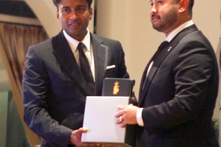 Johor Crown Prince Tunku Ismail honoured at new football awards ceremony