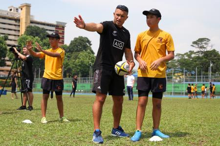 All Blacks feel the heat in Singapore