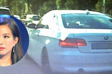 Actress Rui En's BMW hit car in earlier accident