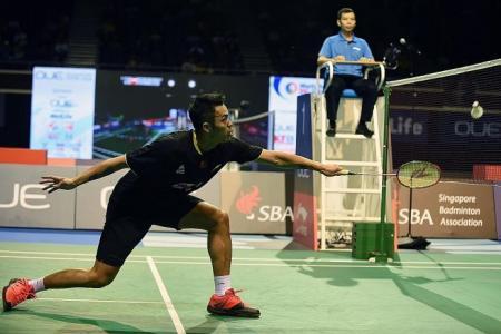 Badminton star Lin Dan shocked by Indonesian Kuncoro in Singapore Open