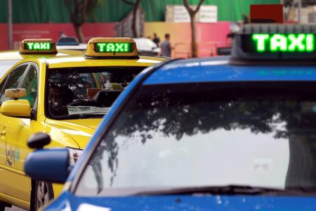 After hitting taxi, man almost hits elderly taxi driver