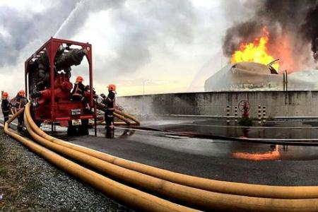Jurong Island fire was at light crude oil tank