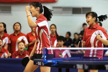 Sports School and Nanyang Girls' break Raffles' stranglehold