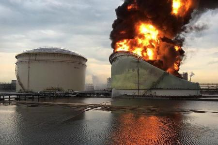 Firefighters recount tackling Jurong Island oil tank fire