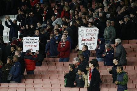 Fans right to turn backs on Wenger