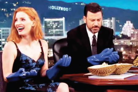 'Blue cheese of fruit'? Jessica Chastain dissing durian just made our April worse