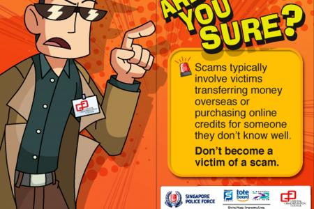 Decals to warn about scams, cybercrimes