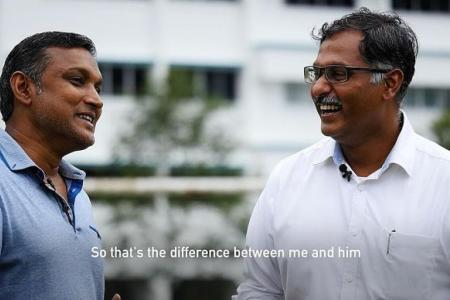 Sundram and Murali relive their Sembawang football days