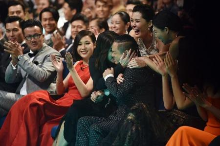Dennis Chew goes home with two Star Awards and many kisses