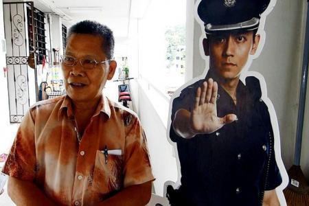 Cop standee at AMK block helps deter thieves