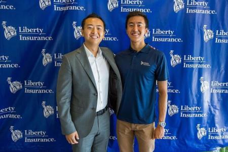 Zheng Wen is Liberty Insurance's brand ambassador
