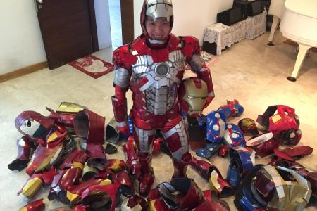 He makes his own Iron Man costumes