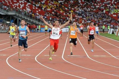 Fifth, but new-look Singapore sprint quartet still smile