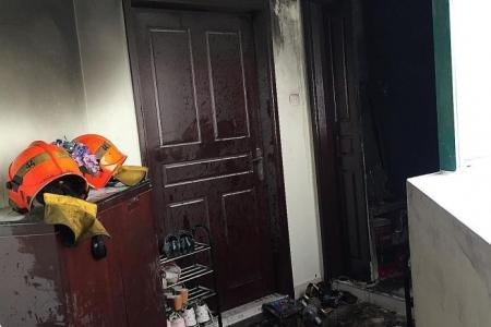 Family trapped in condo fire, one dead