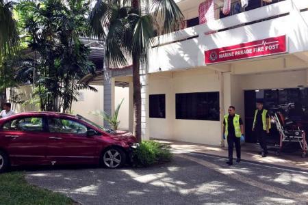 Driver, 81, crashes car at fire post