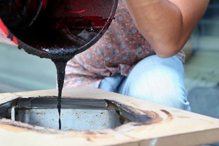 Student creates stool from coffee grounds
