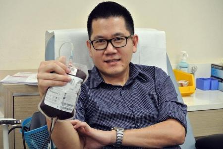 Motorcycle crash turned him into regular blood donor