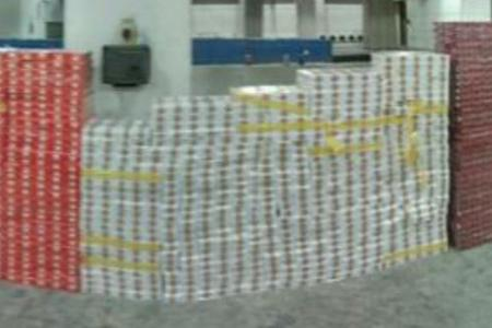 Contraband cigarettes seized by ICA