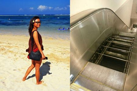 Woman who fell into SMRT escalator gap: I thought I was going to die
