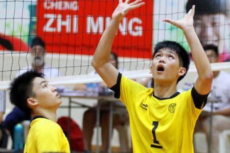 Victoria JC sweat to retain A Boys' volleyball title