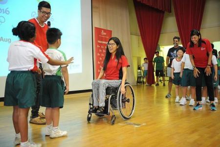 Para-swimmer Yip hopes to inspire kids