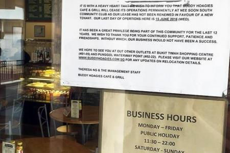 Netizens upset over closing of Nee Soon South cafe