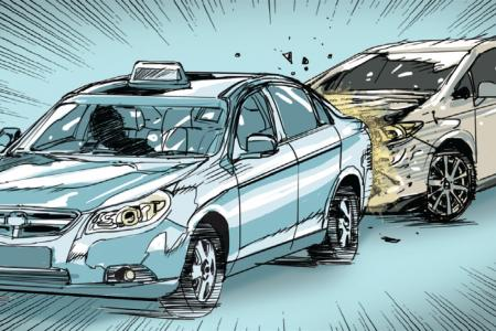 Cabby drives against traffic to chase driver who hit him