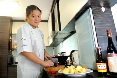She gives up law studies to train to be  a chef