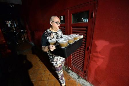 He gives food he cooks to the elderly in Chinatown