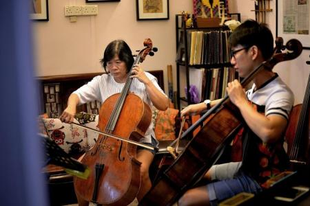 Cellist saves mum with his strings