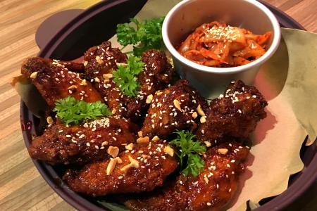 Korean chicken with pluck