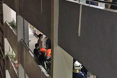 Man shocks residents, climbing down from 12th storey flat