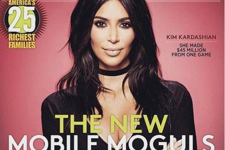Kim K on the cover of Forbes magazine