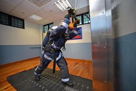 She tops SCDF volunteer firefighting course