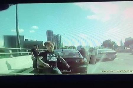 CTE road rage terrors flee after they spot dash cam