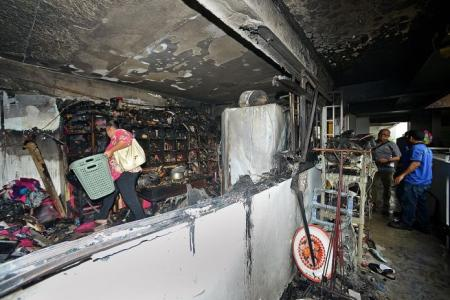 Family's escape blocked by flames in Sengkang fire