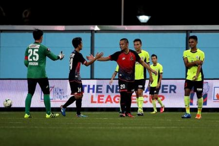 Tampines beaten into second place
