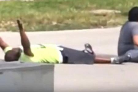 He lies down, puts hands up, and still gets shot by cop