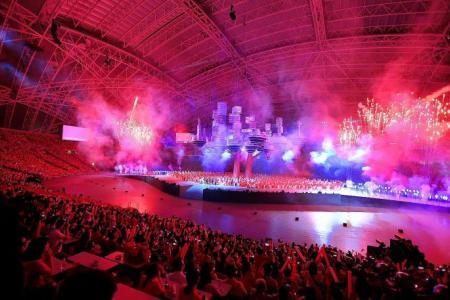 Biggest firework display at National Stadium
