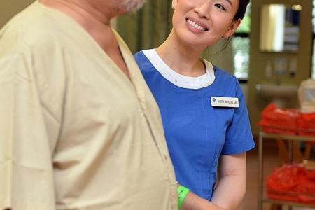 Dedicated nurse unfazed by smitten patients
