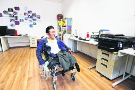He manages studio that enables the disabled