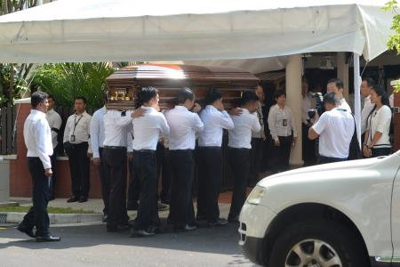 Ministers pay tribute to Mr S R Nathan at private family ceremony