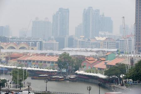 Masks come out as haze hits again