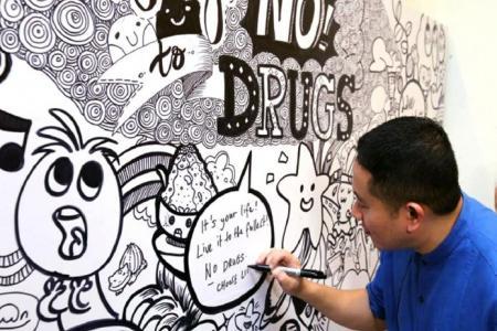 Anti-drug doodle