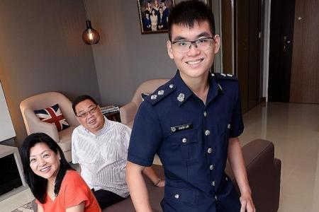 He lost 20kg to become a policeman