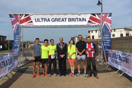 He raised over $160,000 in UK ultra-marathon