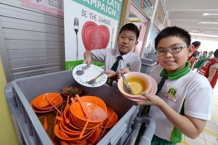 Teaching kids not to waste food