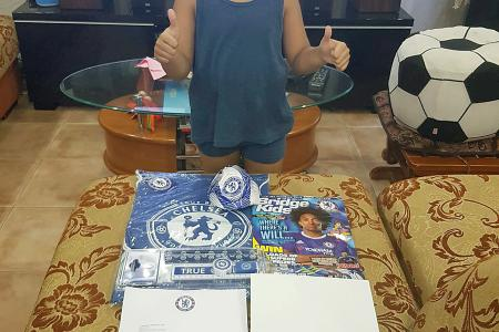 S'pore boy gets birthday surprise - from Chelsea's John Terry
