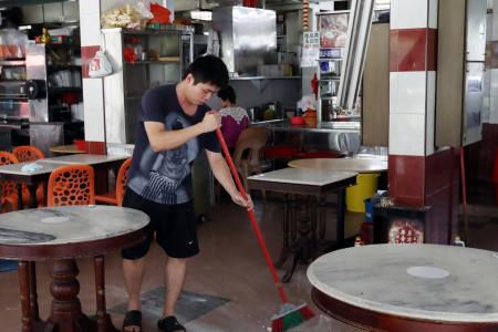 Customers at Bukit Merah coffee shop startled by falling ceiling boards