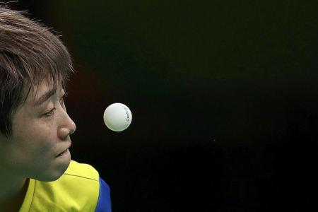 IT'S OVER FOR TABLE TENNIS STAR FENG